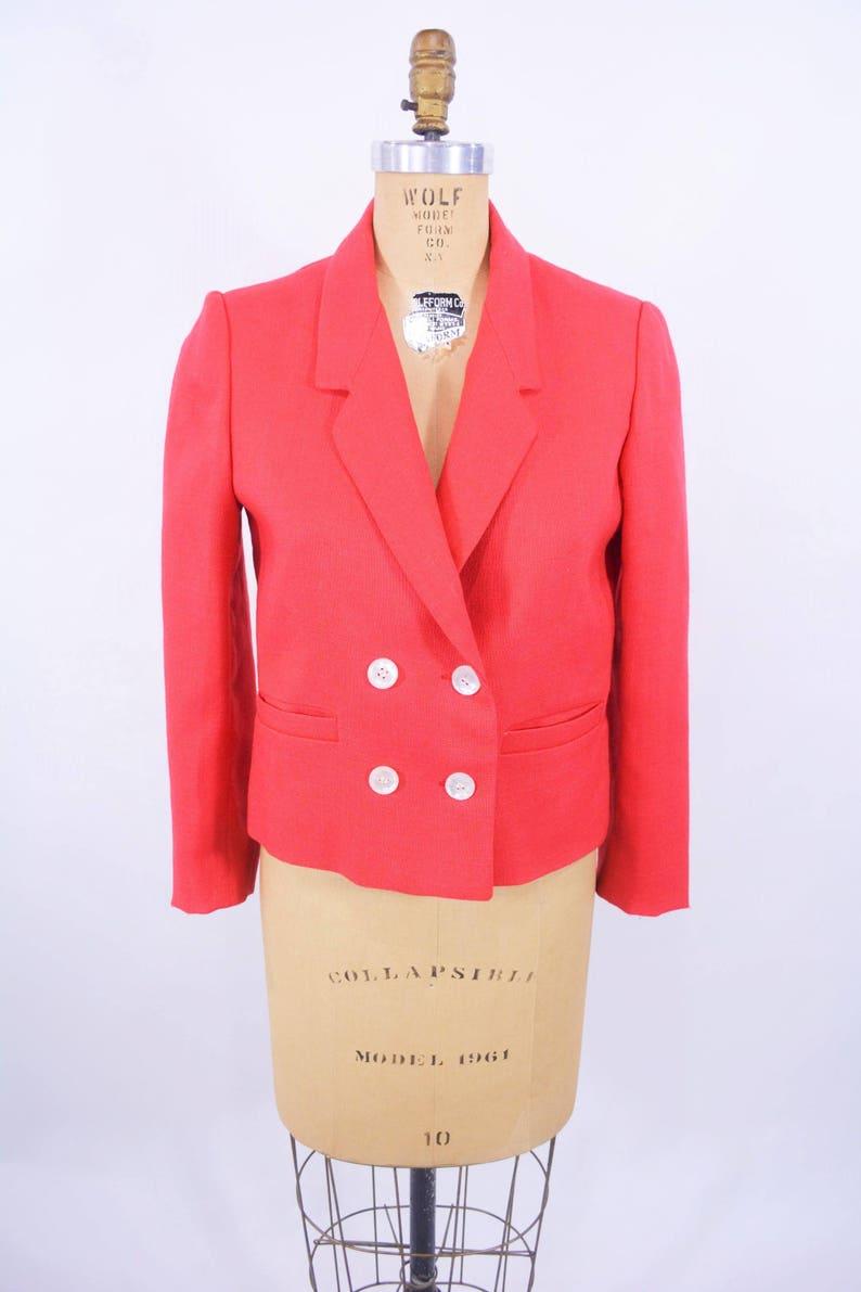 Vintage 1960s Red Blazer  Mort Schrader Bold Jacket  W image 0