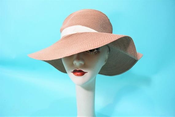 Vintage 1970s Sun Hat | Tan Floppy Doree of New Yo