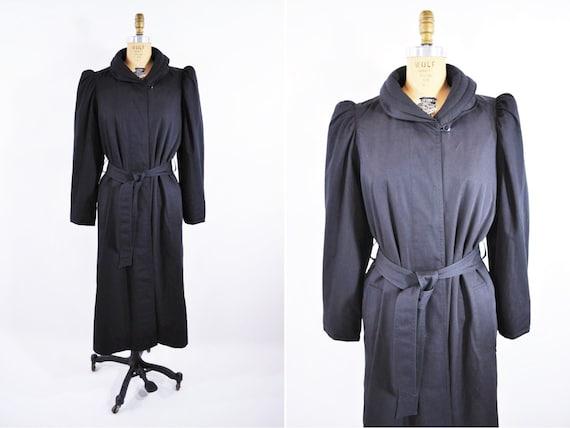 Vintage 1980s Puffer Coat | Long Fleece Lined Cold