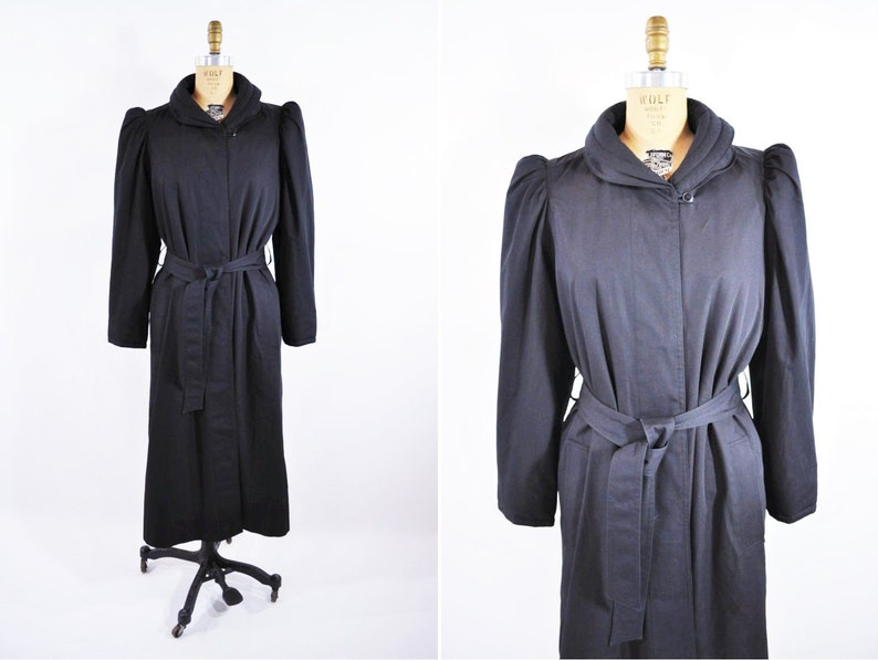 Vintage 1980s Puffer Coat  Long Fleece Lined Cold Weather image 0