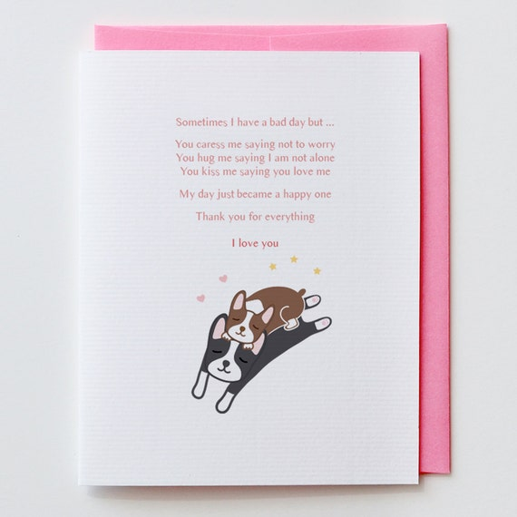 My Happy Day Boston Terrier Anniversary Card Valentine