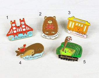 San Francisco Enamel Pins