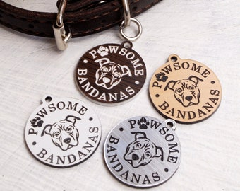 Custom made logo tags for handmade dog leashes and accessories - personalized acrylic tags - laser engraved tags - set of 25 pc