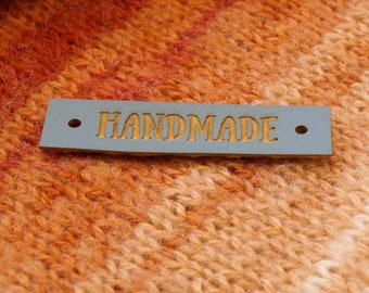 Labels for handmade items, leather labels, leather labels for handmade items, leather tags, crochet labels, clothing labels, 25 pc