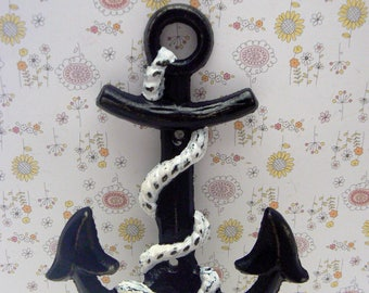 Anchor Cast Iron Wall Hook Shabby Chic Cottage Chic Beach Nautical Home Decor