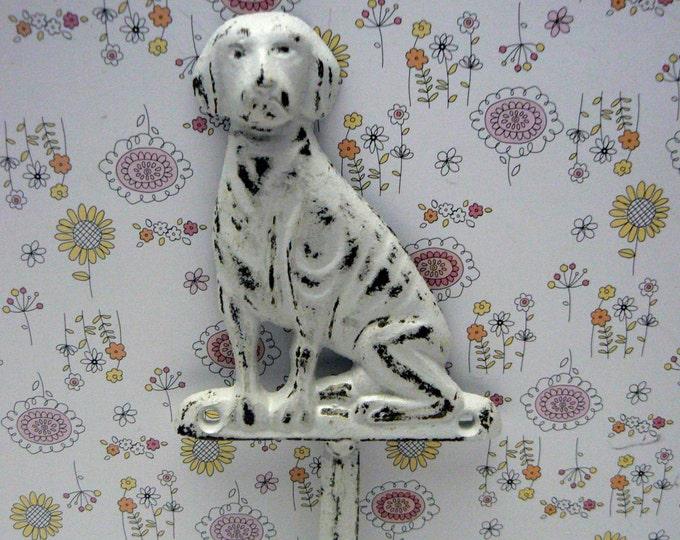 Dog Hook Cast Iron Shabby Chic White Leash Hook Home Decor