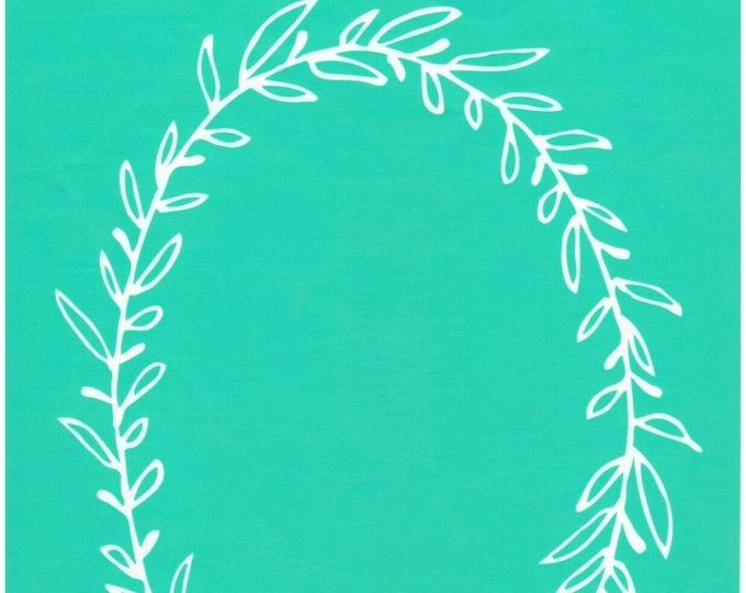Chalk Couture Oval Wreath Unused Transfer Silkscreen Reusable Stencil DIY Craft Supply Decorative Laurel Swag Frame