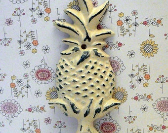 Pineapple Shabby Chic OFF White Tropical Beach Wall Hook Home Decor
