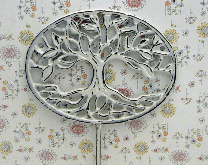 Tree of Life Wall Hook Oak Tree Shabby White Farmhouse Decor