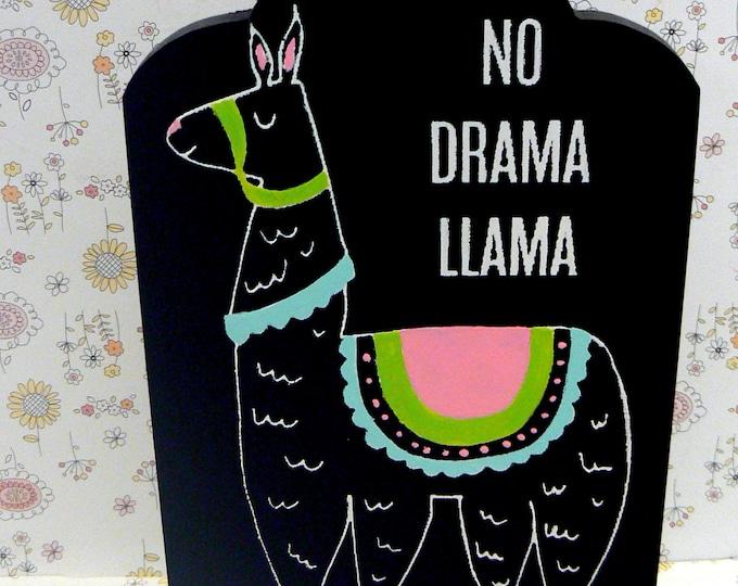 Llama No Drama Llama Sign Chalkboard Plaque Farmhouse Alpaca Farm Whimsical Gift