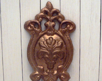 Floral Cast Iron Wall Hook FDL Fleur de lis Paris Chic Rose Gold Home Decor