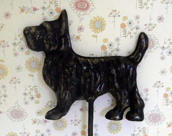 Scottish Terrier Dog Hook Shabby Chic Black Scottie Canine Gift Idea