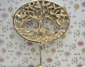 Tree of Life Wall Hook Oak Tree Shabby Cream OFF White Farmhouse Decor
