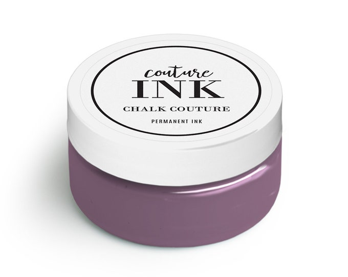 Chalk Couture Fig Permanent Ink Color 3 oz Jar Chalkology Do It Yourself Project Fig Ink Color
