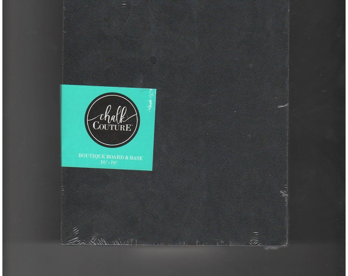 Chalk Couture Black Boutique Chalkboard Surface w Wood Base Stand 5 x 7 Double Sided Surface DIY Supply for Home Decor Crafting