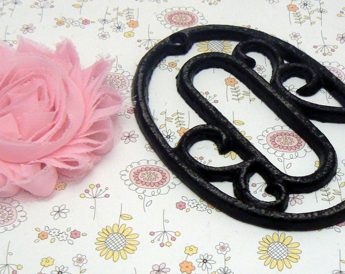 """House Mailbox """" Number 0 Zero """" 4.5 Inches Cast Iron Black Shabby Chic Victorian Table Address Accent Number #0"""