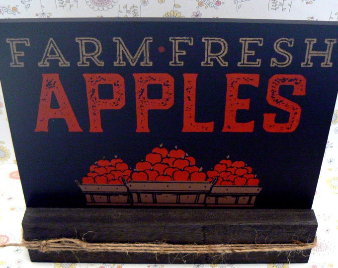 Farm Fresh Apples Farmhouse Apple Festival Board and Sign
