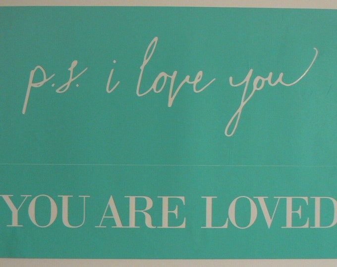 Chalk Couture P.S. You Are Loved Unused Transfer Silkscreen Reusable Stencil DIY PS I Love You / You Are Loved Valentine Wedding Idea