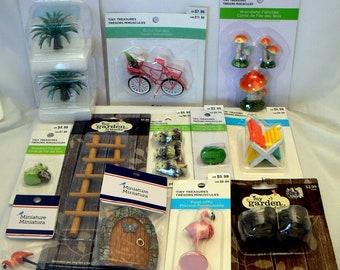 Fairy Garden Miniature Lot of 12 Spring Summer Tiny Treasures Mini Variety