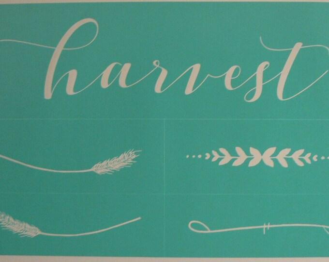 Chalk Couture Harvest Unused Transfer Silkscreen Reusable Stencil DIY Fall Embellishments Thanksgiving Wheat