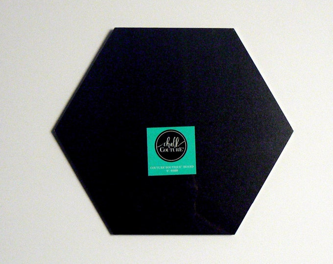 """Chalk Couture Black Boutique Chalkboard Surface Small 10"""" Overall Surface DIY Supply for Home Decor Crafting Do It Yourself"""