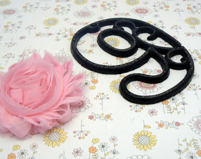 """House Mailbox """" Number 9 Nine """" 4.5 Inches Cast Iron Black Shabby Chic Victorian Table Address Accent Number #9"""