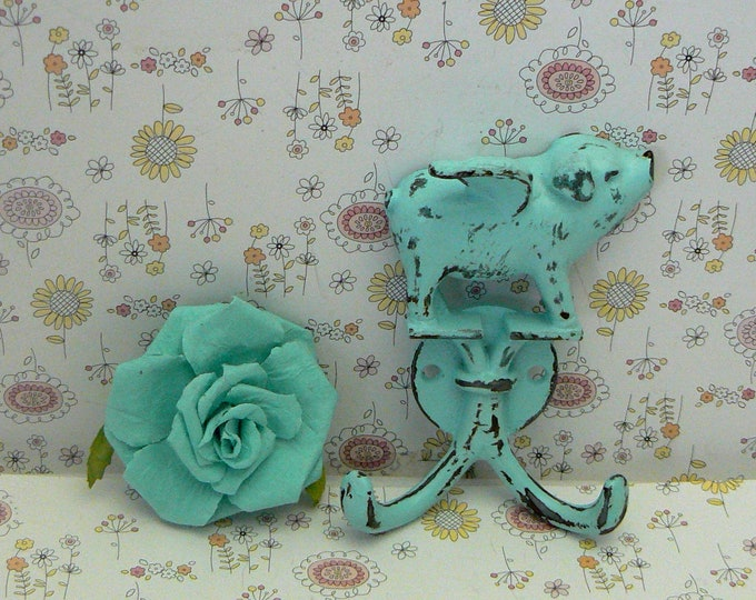 When Pigs Fly Beach Blue Wall Double Pig Hook Shabby Chic Rustic Farmhouse