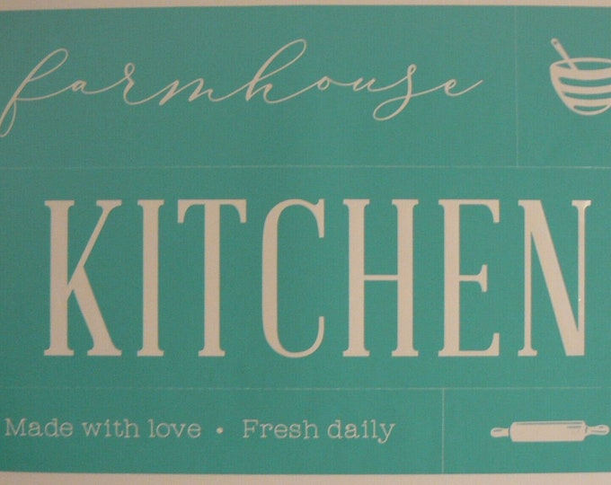 Chalk Couture Farmhouse Kitchen Unused Transfer Silkscreen Reusable Stencil DIY Farm house Chic Made with Love Fresh Daily Rolling Pin