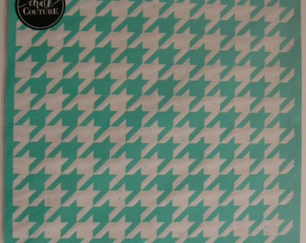 Chalk Couture Houndstooth Unused Transfer Silkscreen Reusable Stencil DIY