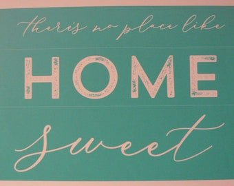 Chalk Couture There's No Place Like Home Unused Transfer Silkscreen Reusable Stencil DIY Farmhouse Shabby Chic Home Sweet Home