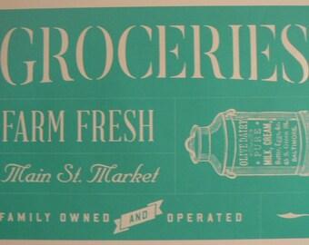 Chalk Couture Groceries Corner Market Collection Unused Transfer Silkscreen Reusable Stencil DIY Family Owned Farm Fresh Market Milk Cream