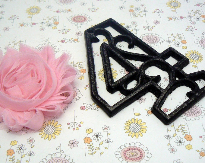 "House Mailbox "" Number 4 Four "" 4.5 Inches Cast Iron Black Shabby Chic Victorian Table Address Accent Number #4"