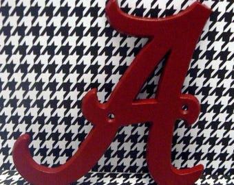 Alabama A Cast Iron Letter Crimson Red Home College Dorm Room Home Decor
