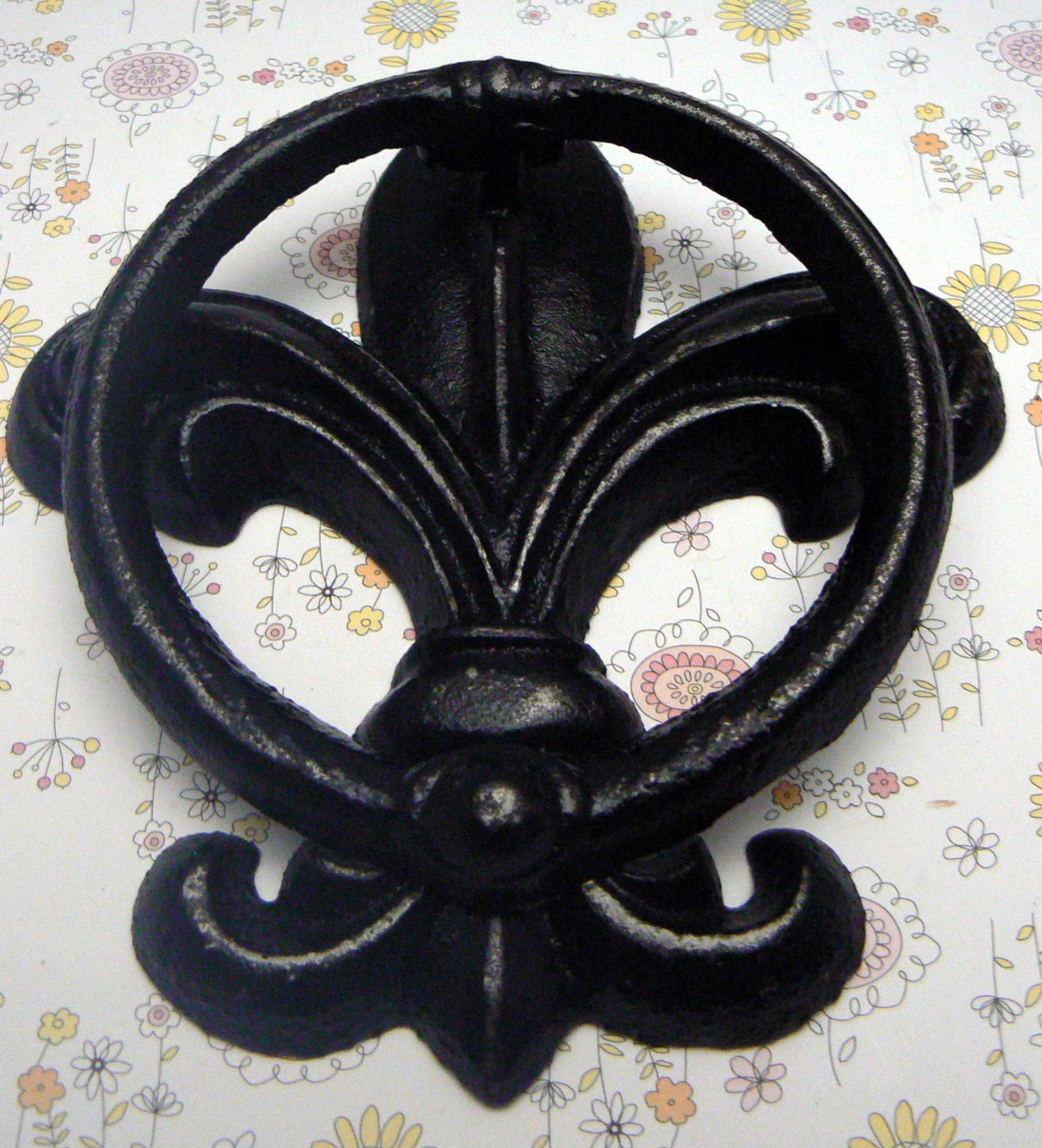 Fleur De Lis Cast Iron Shabby Chic Black FDL Welcome Door Knocker Home  Decor. Gallery Photo Gallery Photo ...