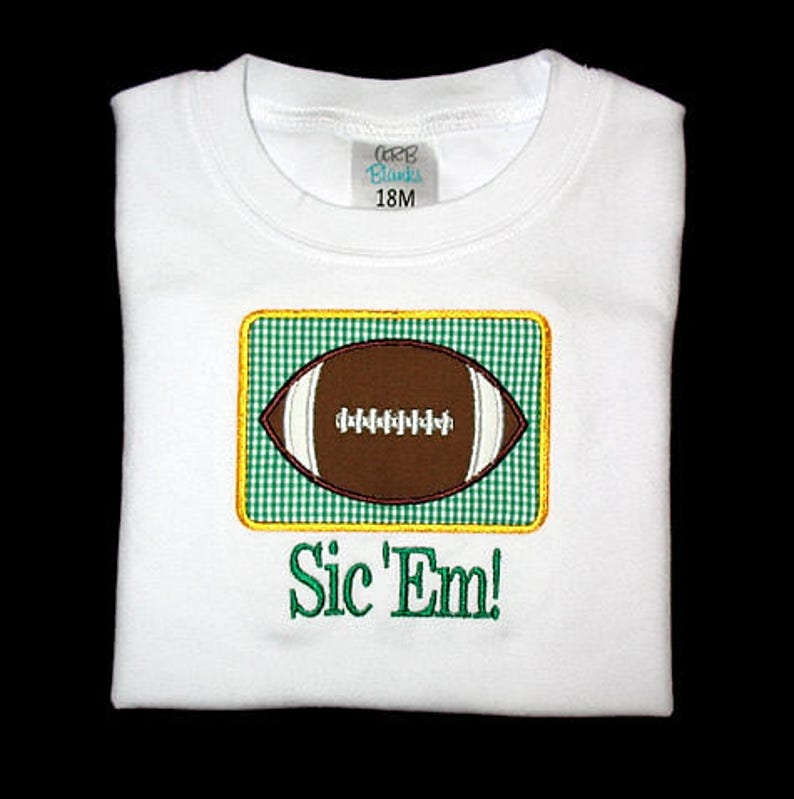 Custom Personalized Applique FOOTBALL and NAME Shirt image 0