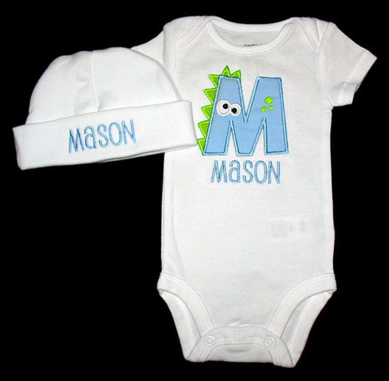 Custom Personalized Applique DINOSAUR ALPHABET and NAME image 0