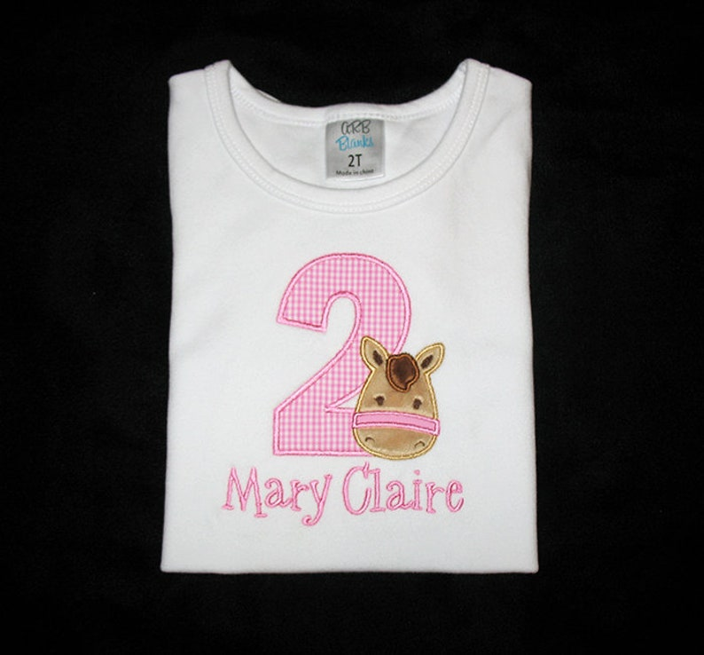 Personalized Applique Birthday Number with Furry Minky PONY image 0