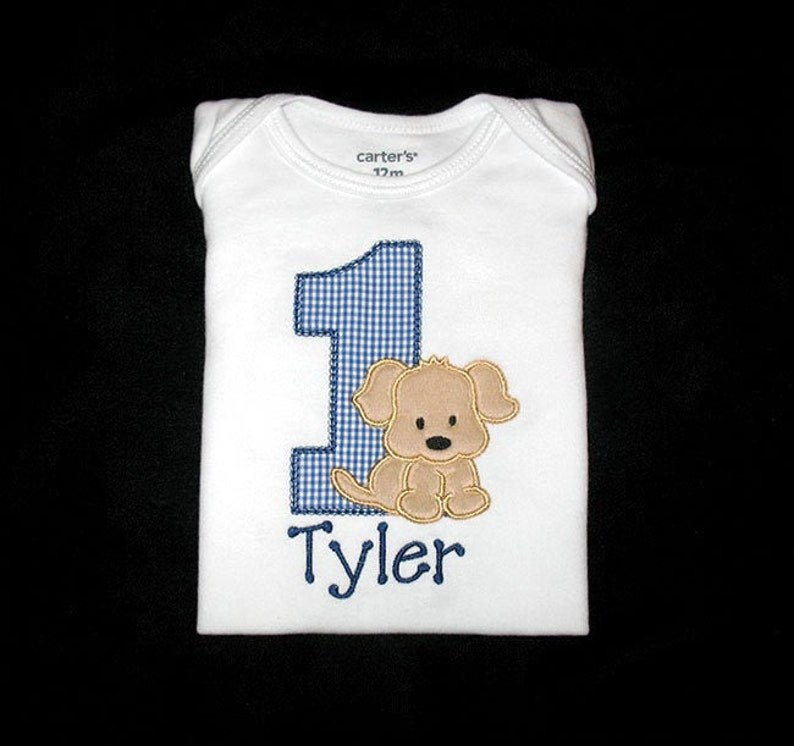 Personalized Applique Birthday Vintage Stitch Number with image 0