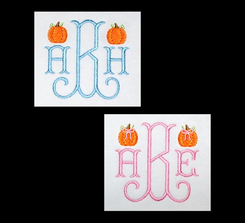 Curves Monogram Font  Custom Personalized 3 INITIAL Monogram image 0
