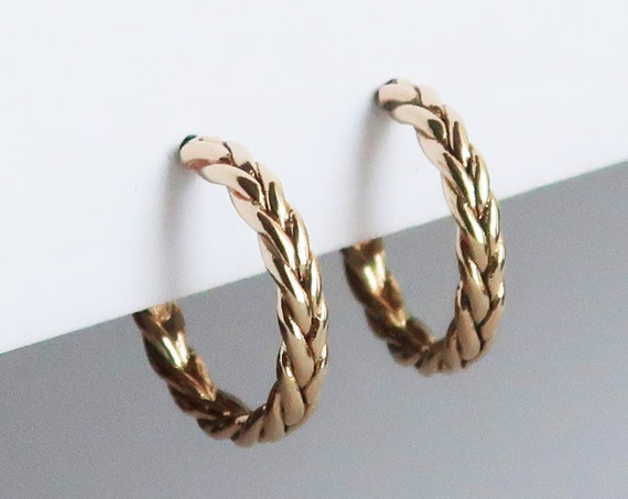 Small Braid Hoop Earrings