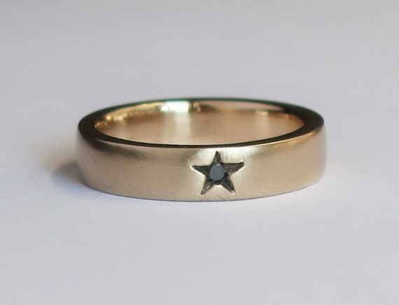 10k yellow Gold Little Star Ring-US size 3.75-Ready to Ship