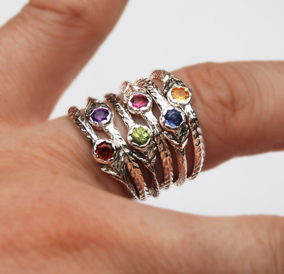 Tiny Jeweled Flower Rings-Ready to ship.