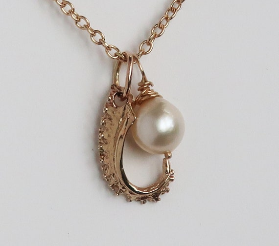 Gold & Vintage Cultured Pearl Tentacle Necklace-Ready to Ship