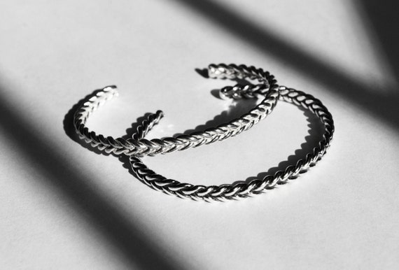 Solid Sterling Silver Braid Bracelet