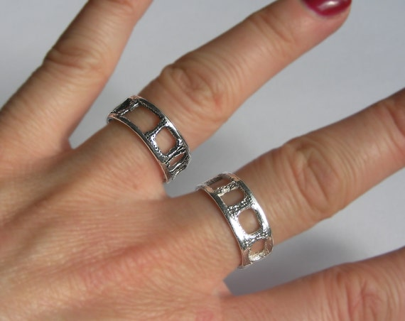 Lacy Silver Shark Vertebra Ring
