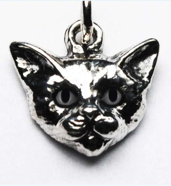 Custom for Mindi-Small Sterling Silver Kitty Cat Charm