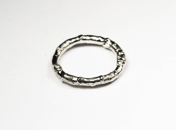 McCarren Park Sterling Silver Twig Ring --closed circle