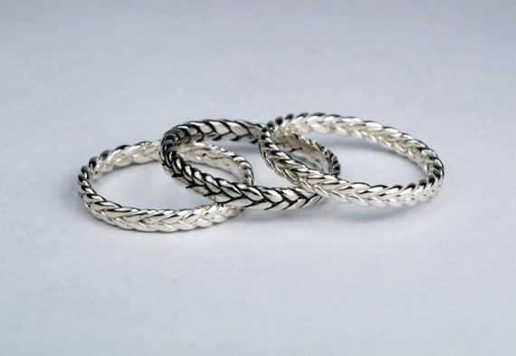 Sterling Silver Thin Braid Ring