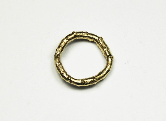 McCarren Park Solid Gold Twig Ring -closed circle