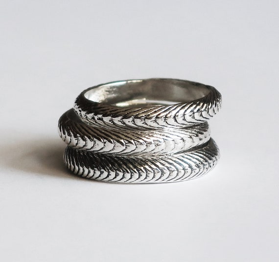 Sterling Silver Cuttlefish Cast Rings, US Sizes 5.5 & 6.5-Ready to Ship